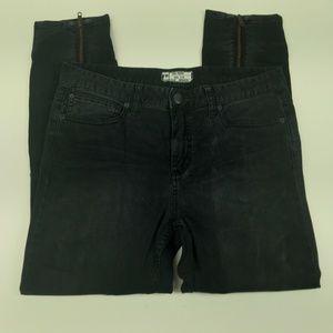 FP Free People Jeans Size 31 Black Skinny